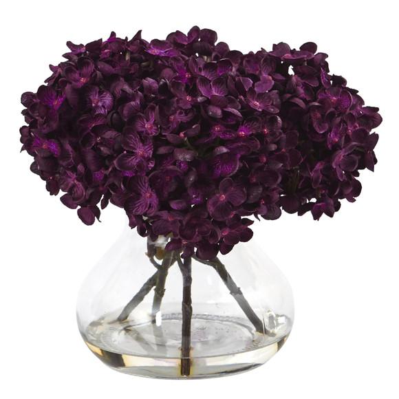 Hydrangea with Vase Silk Flower Arrangement - SKU #1439 - 1