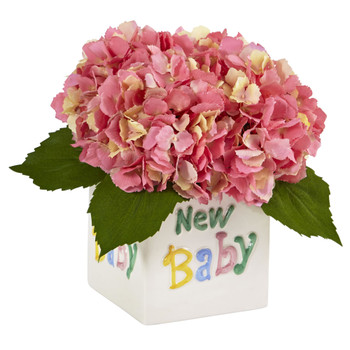 Hydrangea in New Baby Ceramic - SKU #1448