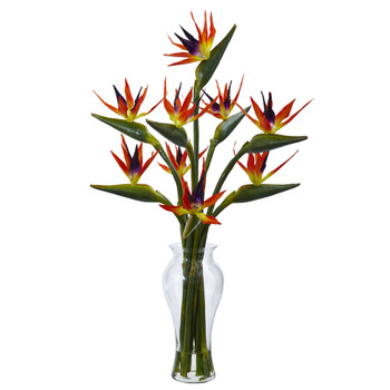 Birds of Paradise in Vase - SKU #1449