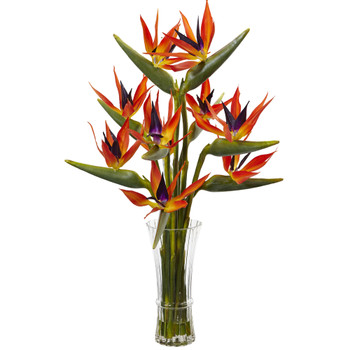Large Birds of Paradise in Vase - SKU #1455