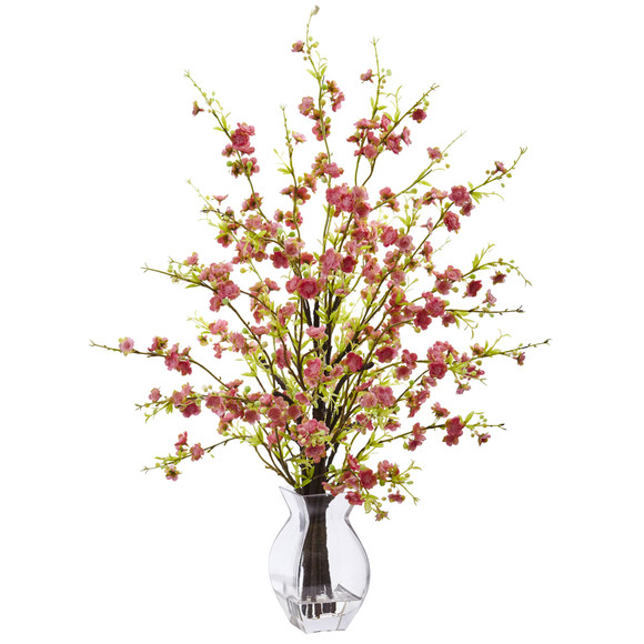 Cherry Blossom in Glass Vase - SKU #1459 - 1