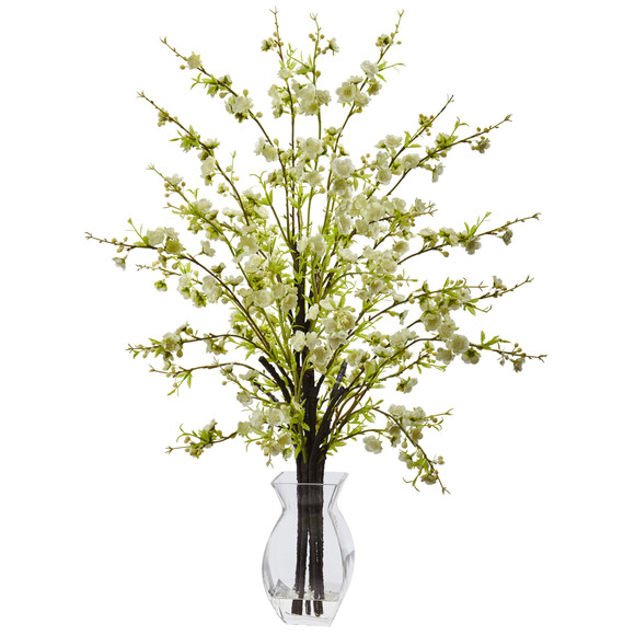Cherry Blossom in Glass Vase - SKU #1459 - 2