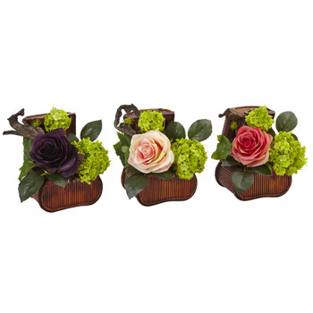 Rose and Mini Green in Chest Set of 3 - SKU #1469-S3