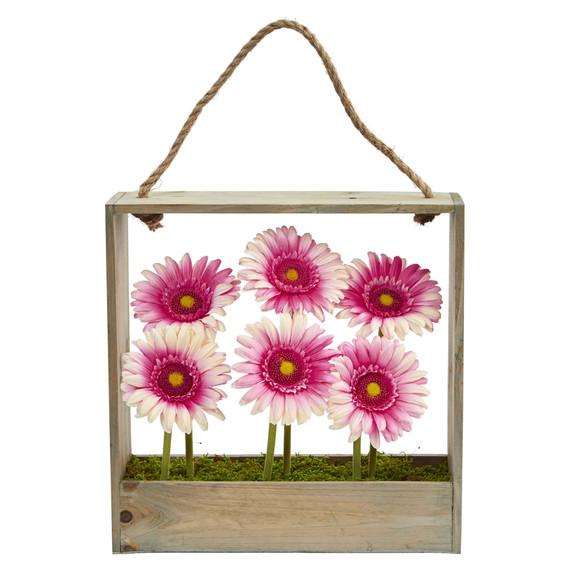 Gerber Daisy Garden in Hanging Frame - SKU #1482 - 4