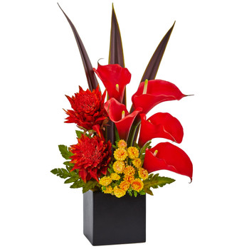 Tropical and Calla Mixed Arrangement - SKU #1486