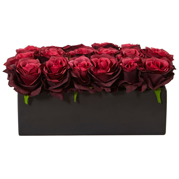 Roses in Rectangular Planter - SKU #1487 - 12