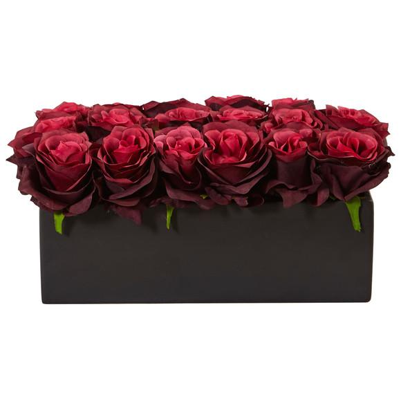Roses in Rectangular Planter - SKU #1487 - 8