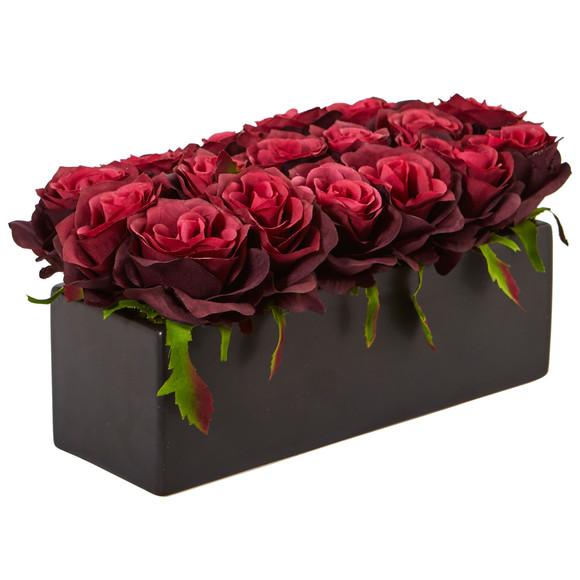 Roses in Rectangular Planter - SKU #1487 - 13