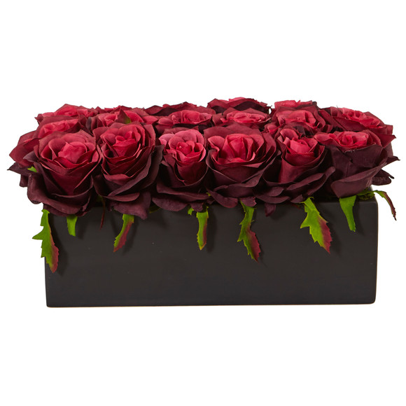 Roses in Rectangular Planter - SKU #1487 - 15