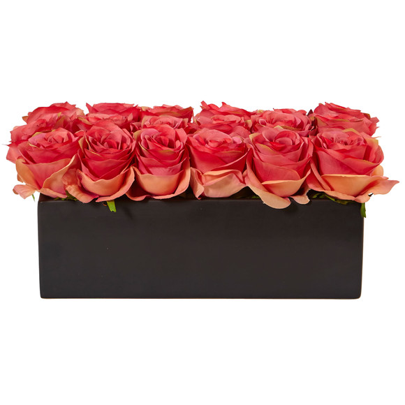 Roses in Rectangular Planter - SKU #1487 - 8