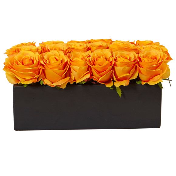 Roses in Rectangular Planter - SKU #1487 - 26