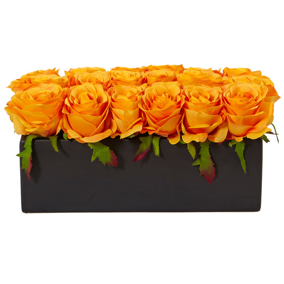 Roses in Rectangular Planter - SKU #1487 - 29