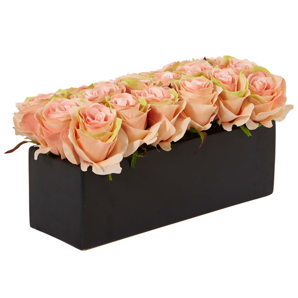 Roses in Rectangular Planter - SKU #1487 - 17