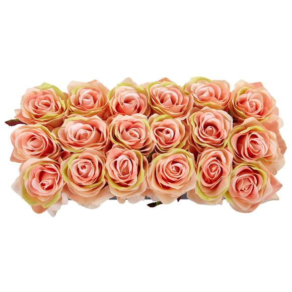 Roses in Rectangular Planter - SKU #1487 - 18