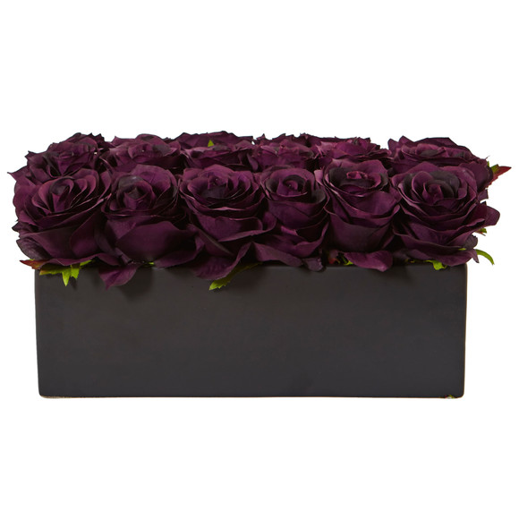 Roses in Rectangular Planter - SKU #1487 - 22