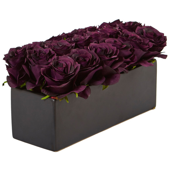 Roses in Rectangular Planter - SKU #1487 - 23