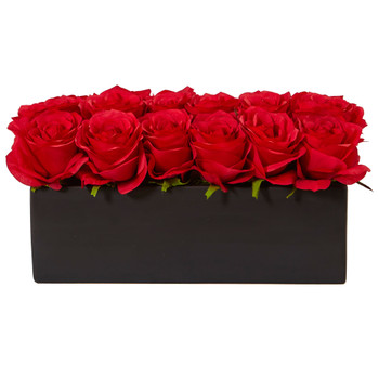 Roses in Rectangular Planter - SKU #1487