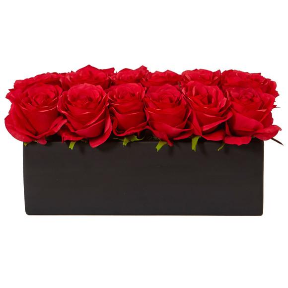 Roses in Rectangular Planter - SKU #1487