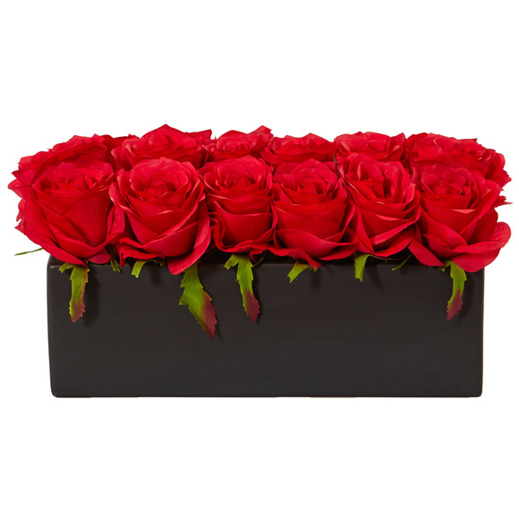 Roses in Rectangular Planter - SKU #1487 - 3