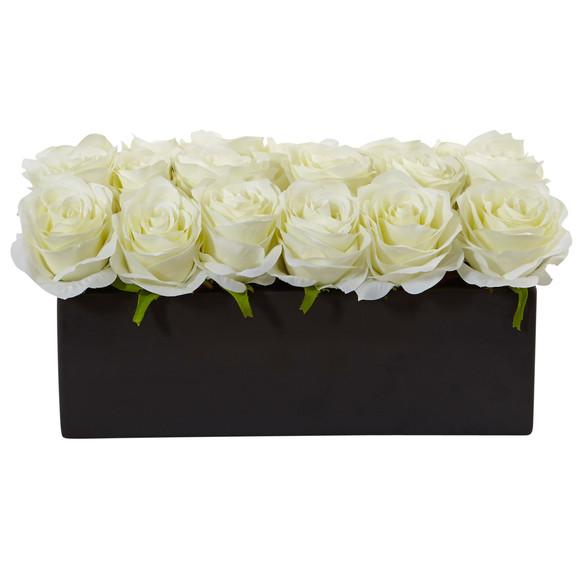 Roses in Rectangular Planter - SKU #1487 - 4