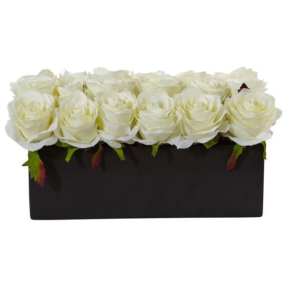 Roses in Rectangular Planter - SKU #1487 - 3