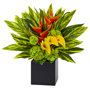 Heliconia and Calla Arrangement - SKU #1490
