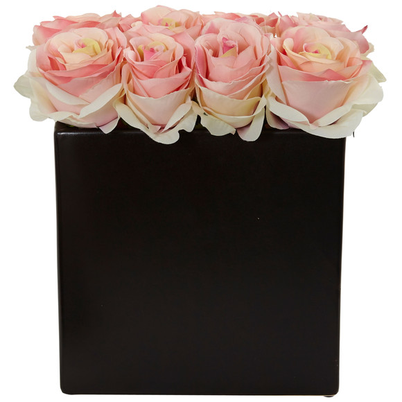 Roses Arrangement in Black Vase - SKU #1510 - 15