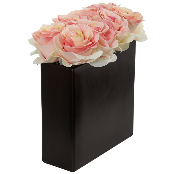 Roses Arrangement in Black Vase - SKU #1510 - 16