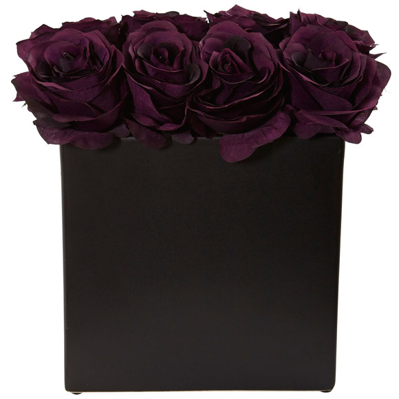 Roses Arrangement in Black Vase - SKU #1510 - 18