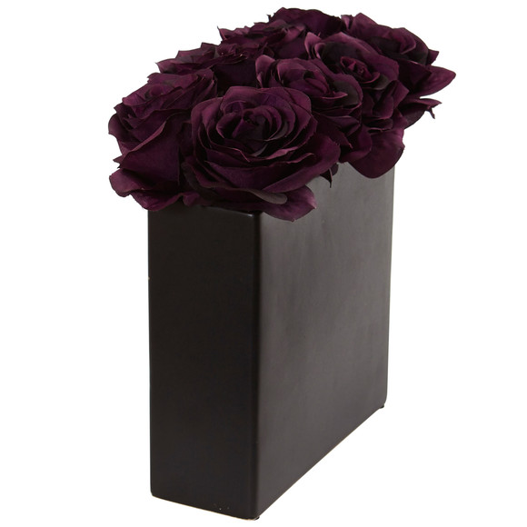 Roses Arrangement in Black Vase - SKU #1510 - 19