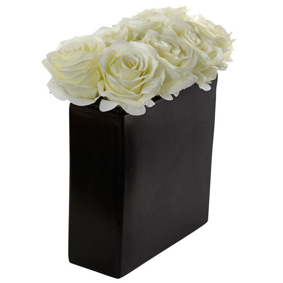 Roses Arrangement in Black Vase - SKU #1510 - 4