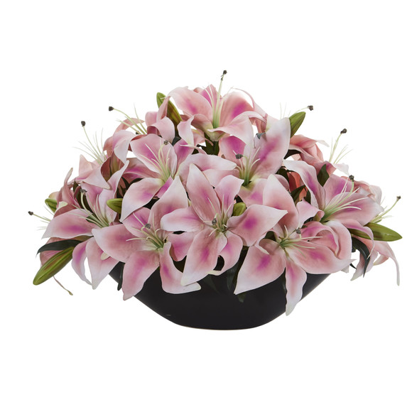 Lily Centerpiece Artificial Floral Arrangement - SKU #1531 - 1