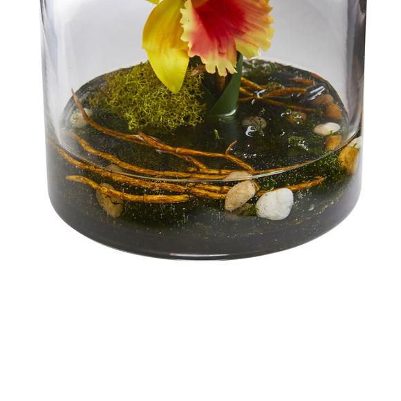 20 Cattleya Orchid Artificial Floral Arrangement in Cylinder Vase - SKU #1540 - 5