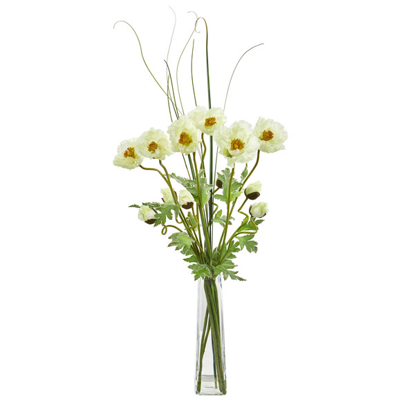Poppy and Grass Artificial Arrangement - SKU #1566 - 2