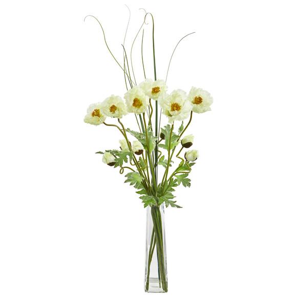 Poppy and Grass Artificial Arrangement - SKU #1566 - 2