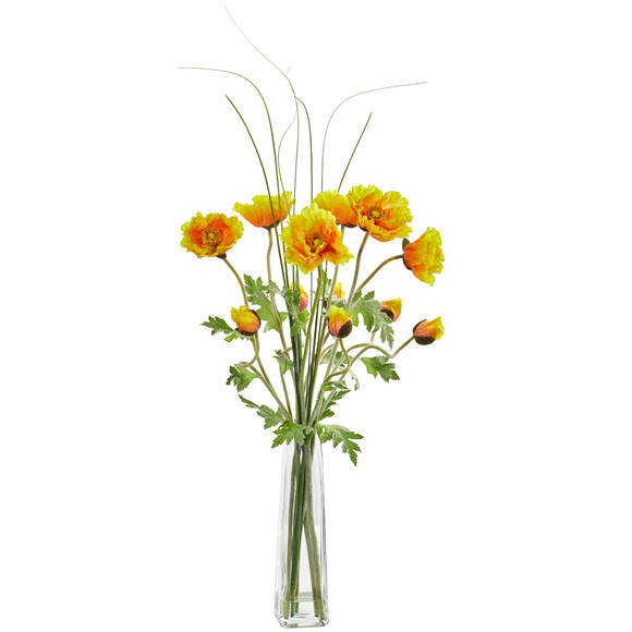 Poppy and Grass Artificial Arrangement - SKU #1566 - 1