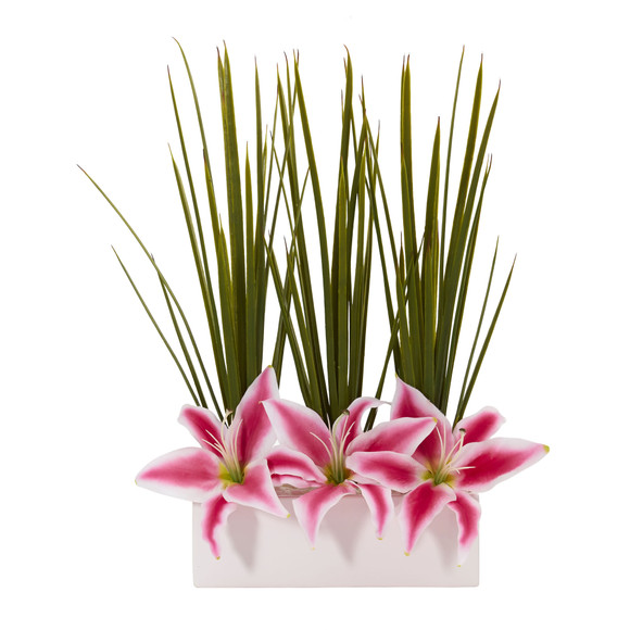 23 Grass Lily Artificial Arrangement - SKU #1567