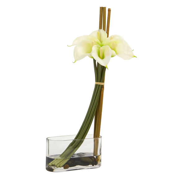 18 Calla Lily with Bamboo Artificial Arrangement - SKU #1576 - 3