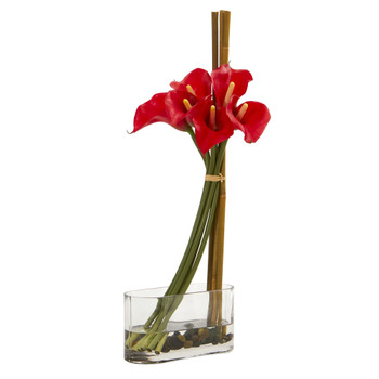 18 Calla Lily with Bamboo Artificial Arrangement - SKU #1576