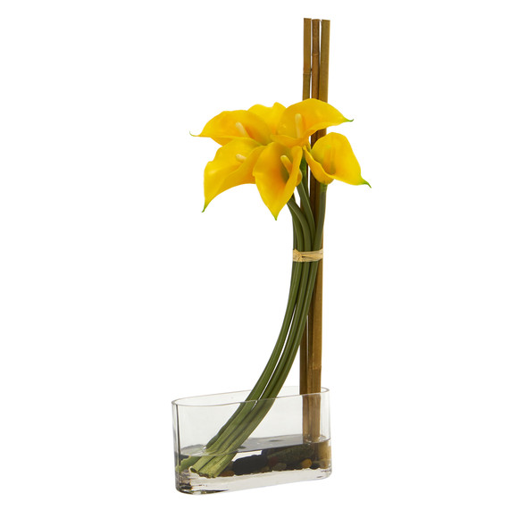 18 Calla Lily with Bamboo Artificial Arrangement - SKU #1576 - 1