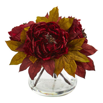Peony Artificial Arrangement - SKU #1580-RD