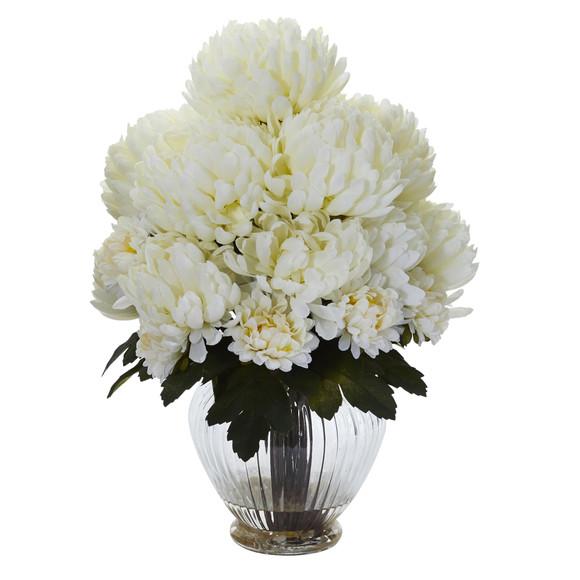 Mum Artificial Arrangement in Vase - SKU #1597 - 4