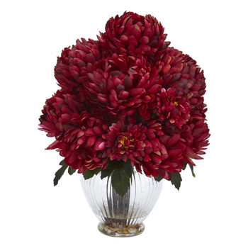 Mum Artificial Arrangement in Vase - SKU #1597