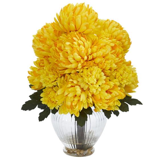 Mum Artificial Arrangement in Vase - SKU #1597 - 2