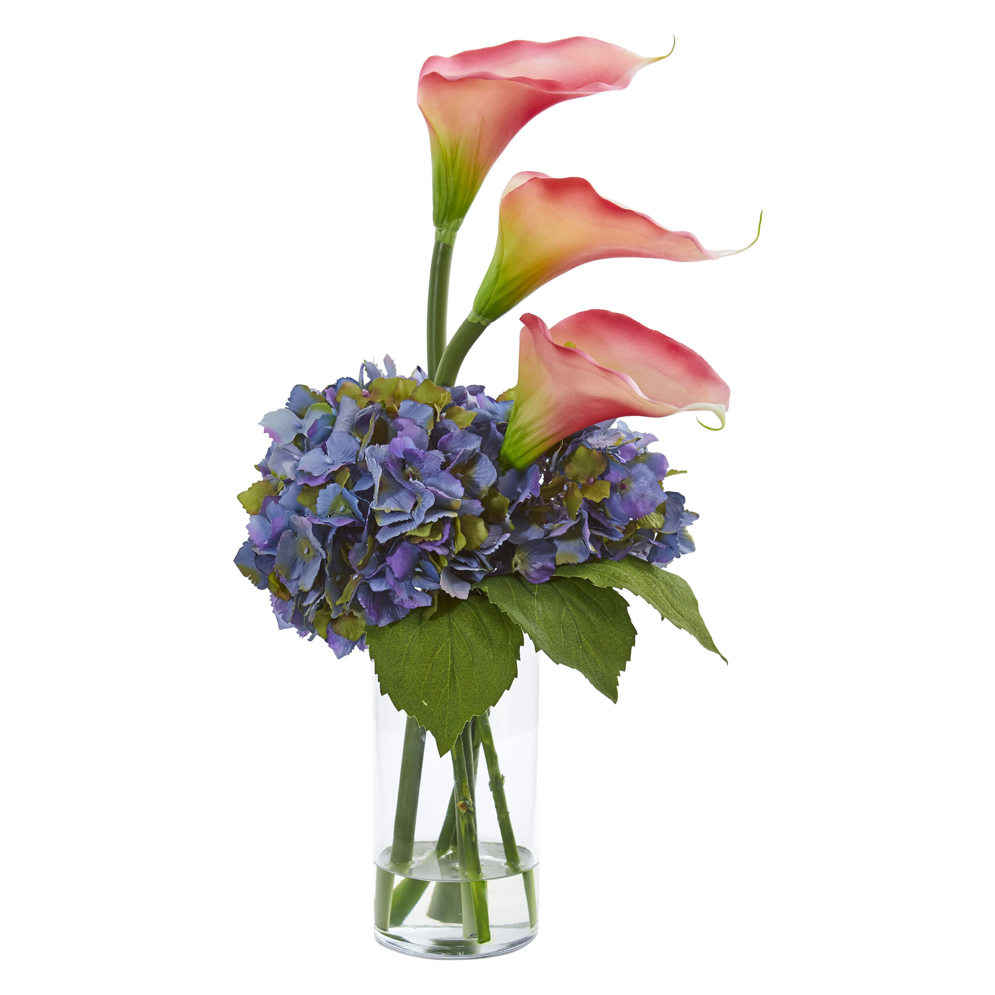 Artificial 18 calla lily hydrangea flowers arrangement in faux image is loading artificial 18 034 calla lily hydrangea flowers arrangement izmirmasajfo