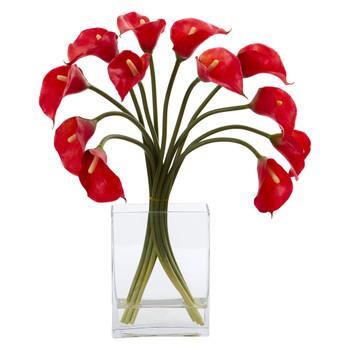 Calla Lily Artificial Arrangement in Vase - SKU #1608