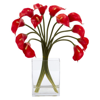 Calla Lily Artificial Arrangement in Vase - SKU #1608