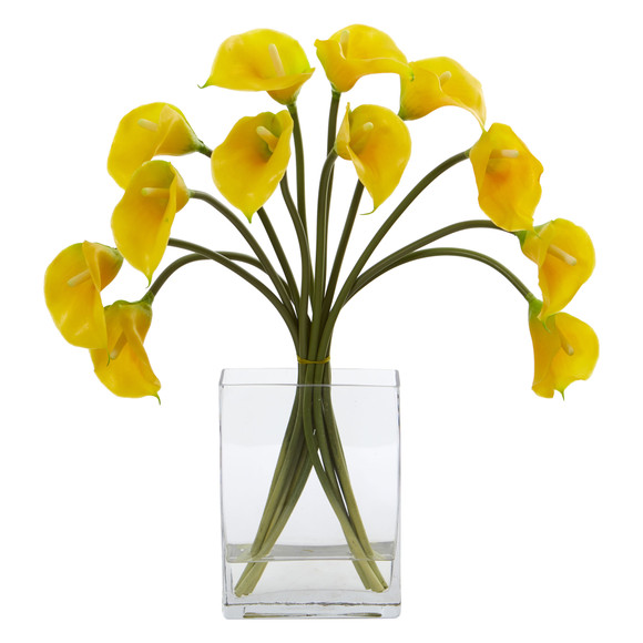 Calla Lily Artificial Arrangement in Vase - SKU #1608 - 2