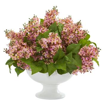 Lilac Artificial Arrangement in White Vase - SKU #1638