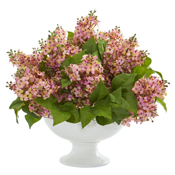 Lilac Artificial Arrangement in White Vase - SKU #1638